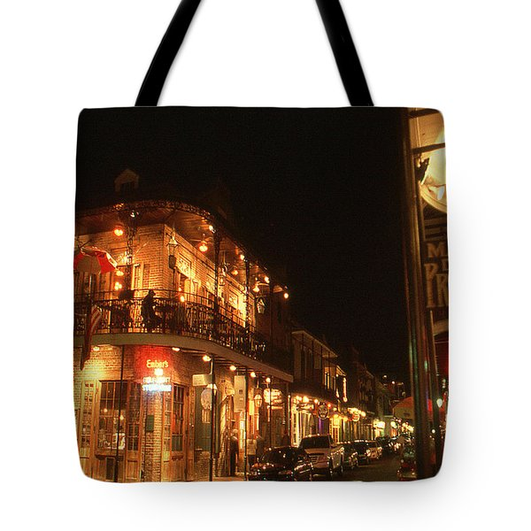 New Orleans Jazz Night Tote Bag by Art America Gallery Peter Potter