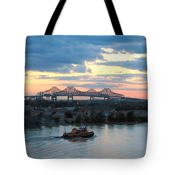 New Orleans Riverfront Tote Bag