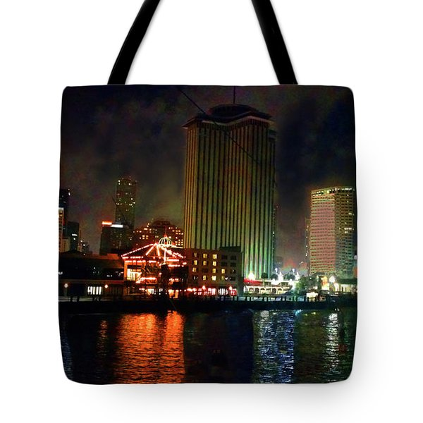 New Orleans Waterfront Tote Bag