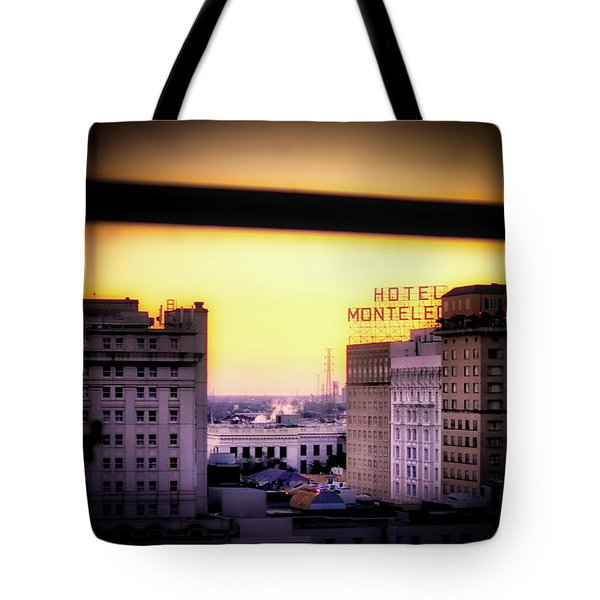 Tote Bag featuring the photograph New Orleans Window Sunrise by Jim Albritton
