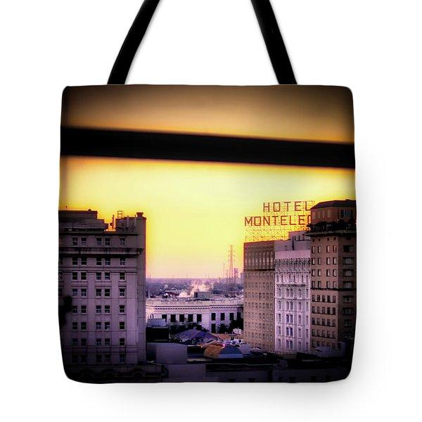 New Orleans Window Sunrise Tote Bag