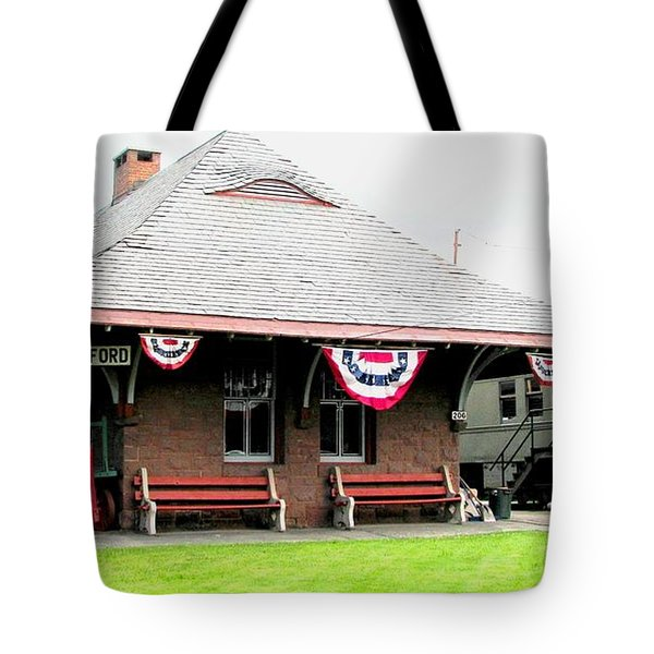 New Oxford Pennsylvania Train Station Tote Bag