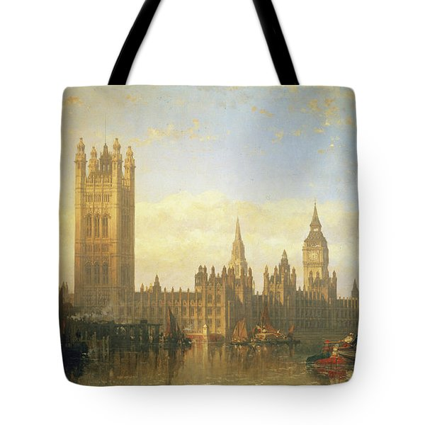 New Palace Of Westminster From The River Thames Tote Bag
