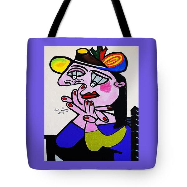 New Picasso  Bug Eye Tote Bag
