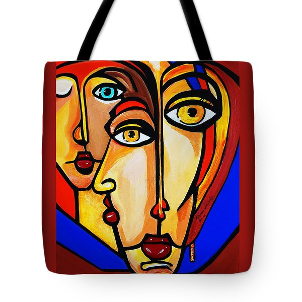 New Picasso By Nora Friends Tote Bag