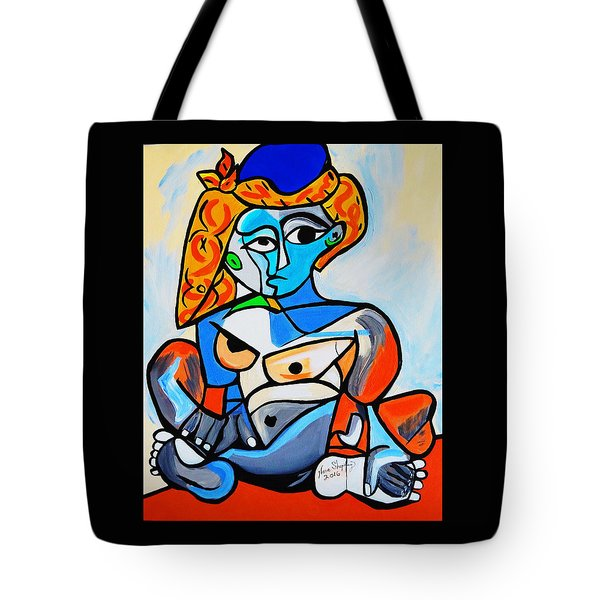 New  Picasso By Nora  Nude Woman With Turkish Bonnet Tote Bag