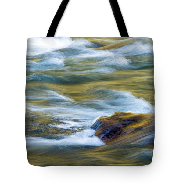 New River Abstract New River Gorge Tote Bag