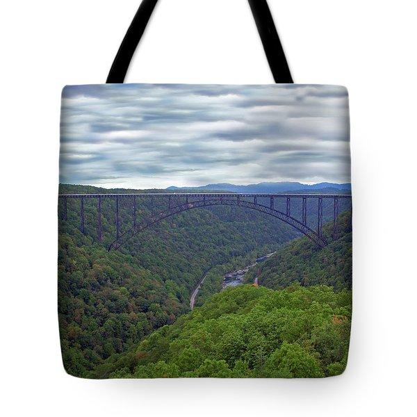 New River Bridge Tote Bag