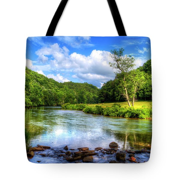 New River Summer Tote Bag by Dale R Carlson
