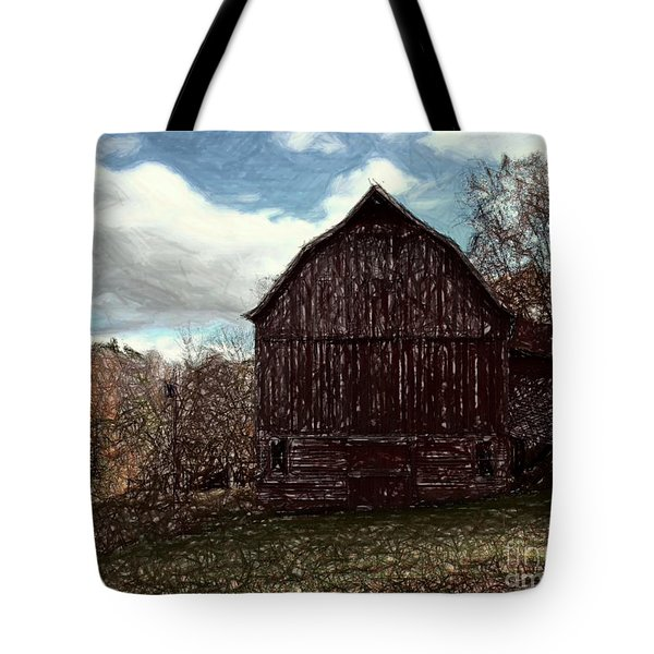 New Road Barn Tote Bag