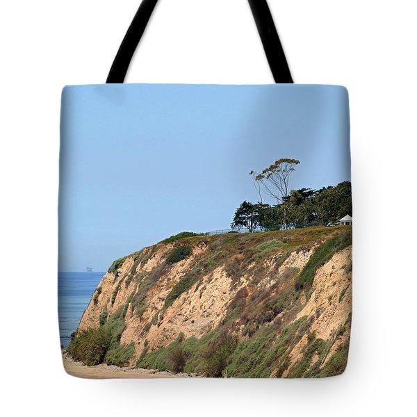 New Santa Barbara Lighthouse - Santa Barbara Ca Tote Bag by Christine Till