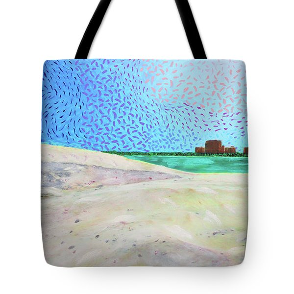 New Smyrna Beach As Seen From A Dune On Ponce Inlet Tote Bag