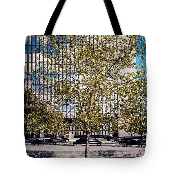 Trees On Fed Plaza Tote Bag