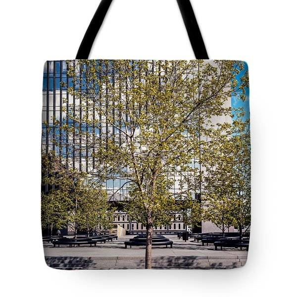 Trees On Fed Plaza Tote Bag