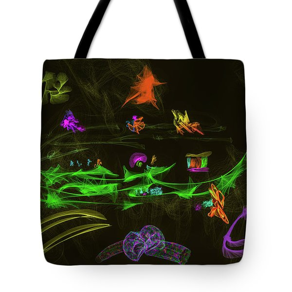 Tote Bag featuring the digital art New Wold #g9 by Leif Sohlman