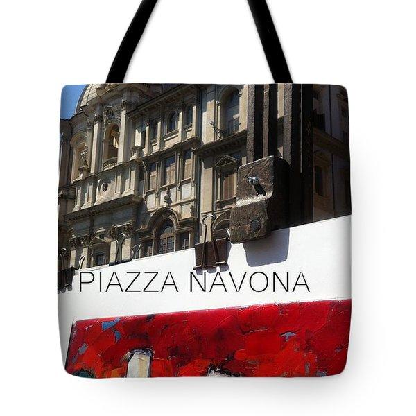 new work Piazza Navona Tote Bag
