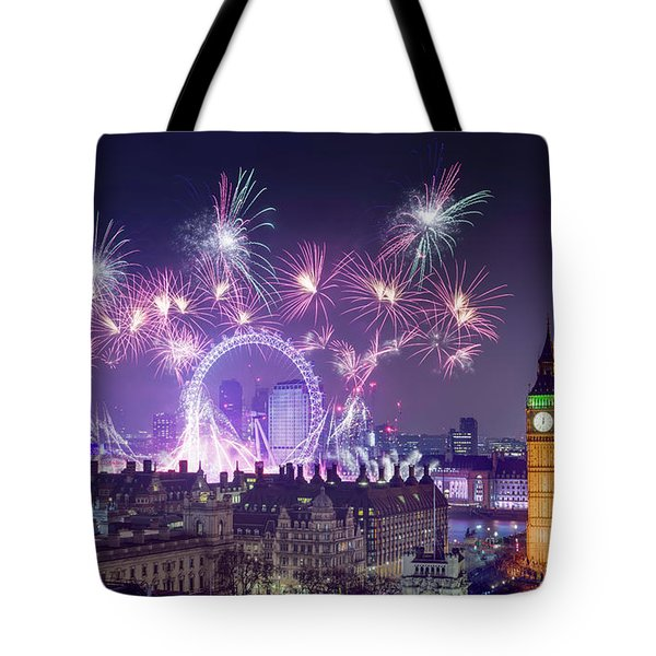 New Year Fireworks London Tote Bag