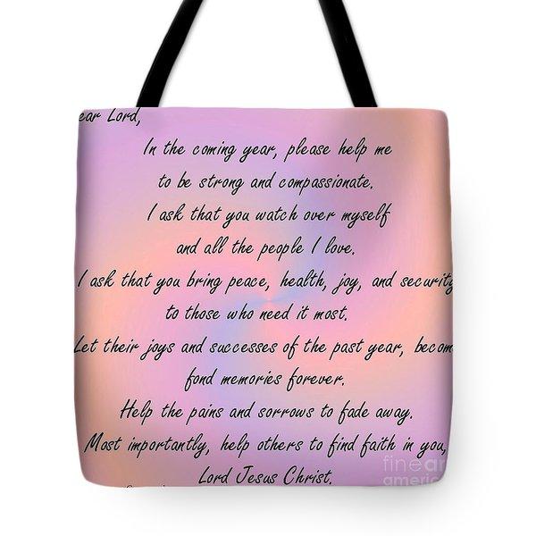 New Year Prayer Tote Bag