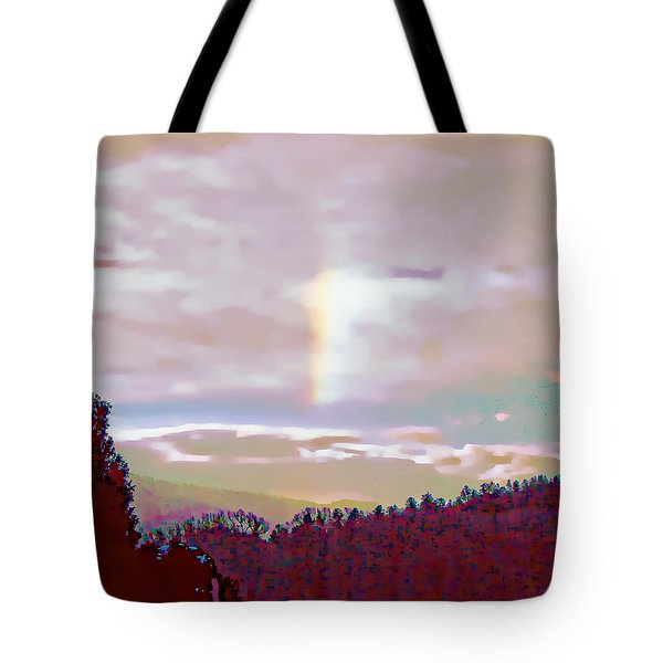 Tote Bag featuring the photograph New Year's Dawning Fire Rainbow by Anastasia Savage Ealy