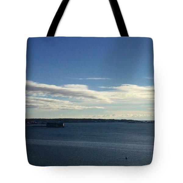 New Year's Day 2016 On Casco Bay, Portland, Maine Tote Bag by Patricia E Sundik