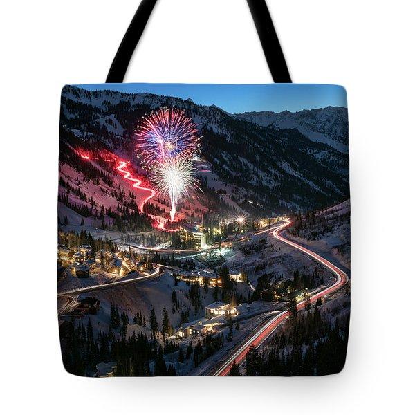 New Year's Eve At Snowbird Tote Bag
