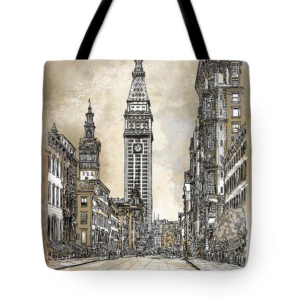 New York 1910 Tote Bag by Andrzej Szczerski
