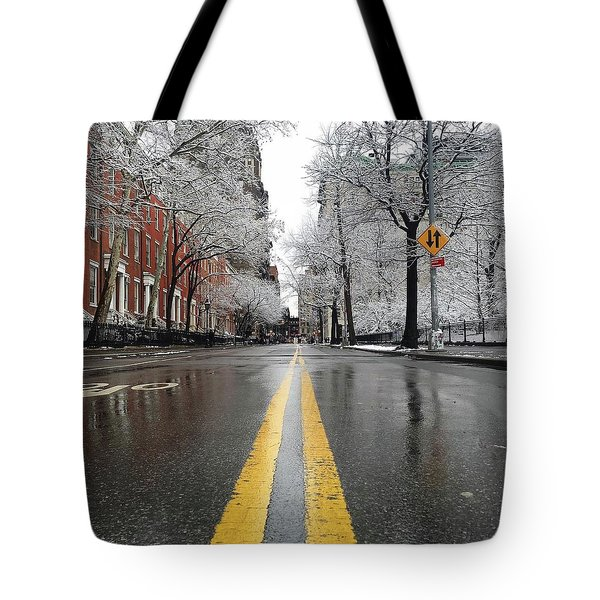 New York 1st Snow Tote Bag