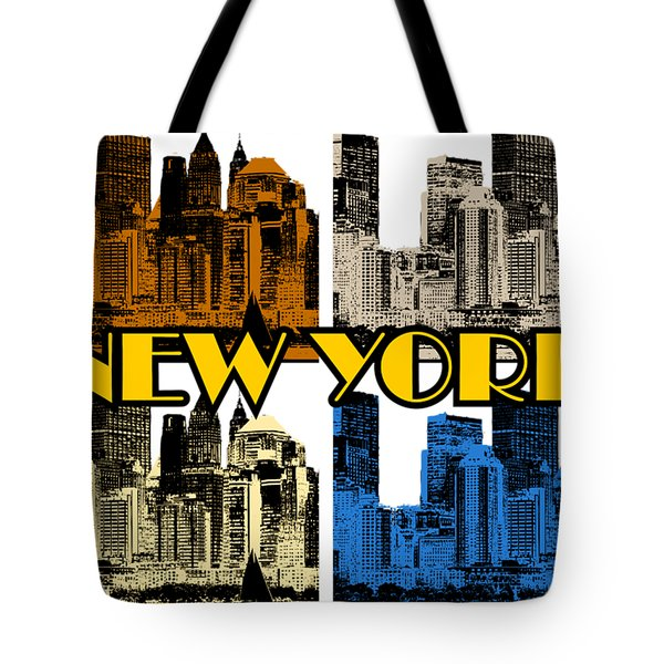 New York 4 Color Tote Bag