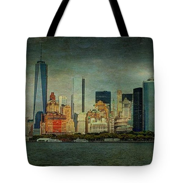 Tote Bag featuring the mixed media New York After Storm by Dan Haraga