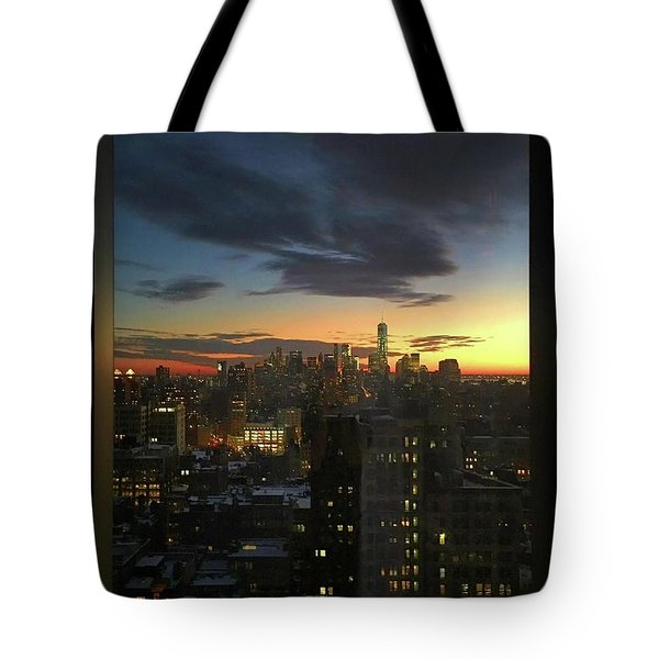New York At Sunset Tote Bag