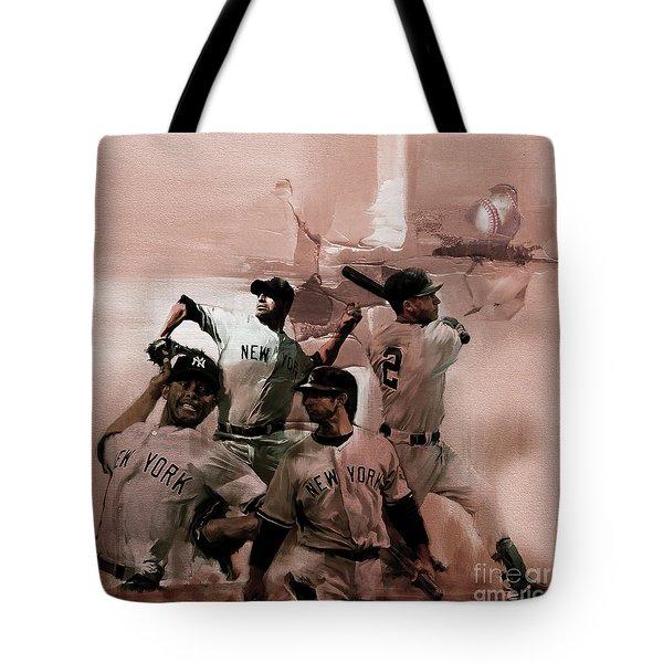 New York Baseball  Tote Bag