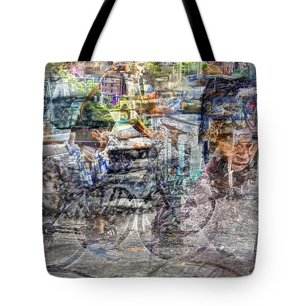 New York Bike Messengers Tote Bag