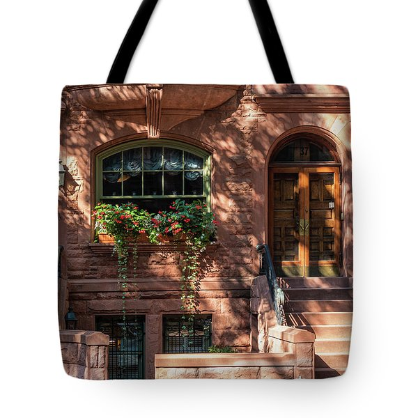 New York Brownstones Tote Bag