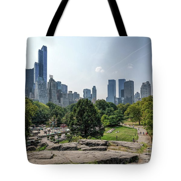 New York Central Park With Skyline Tote Bag