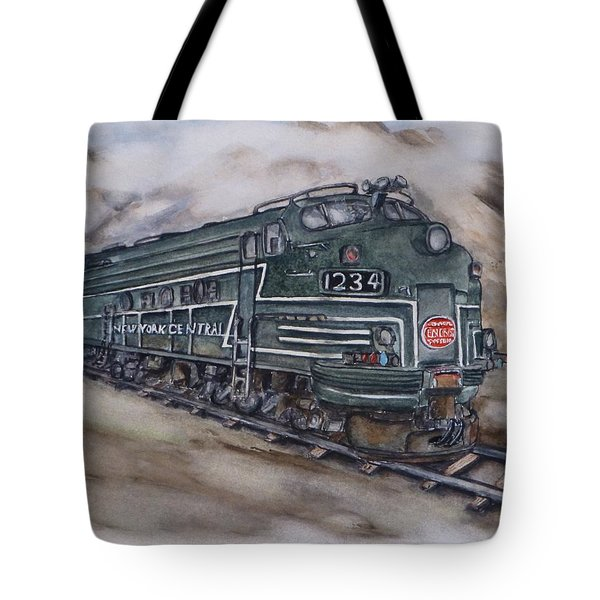 New York Central Train Tote Bag by Kelly Mills