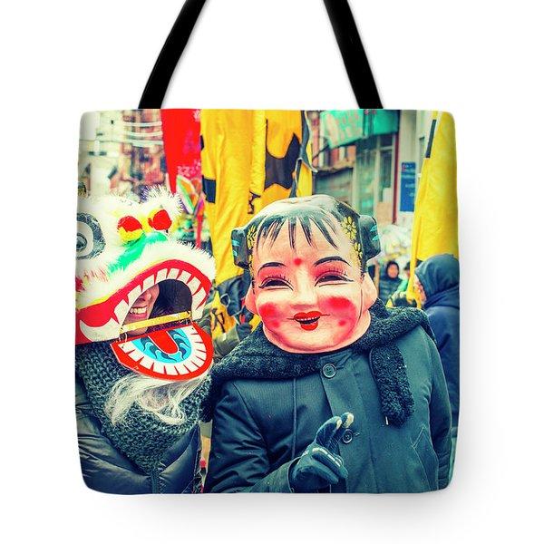New York Chinatown Tote Bag