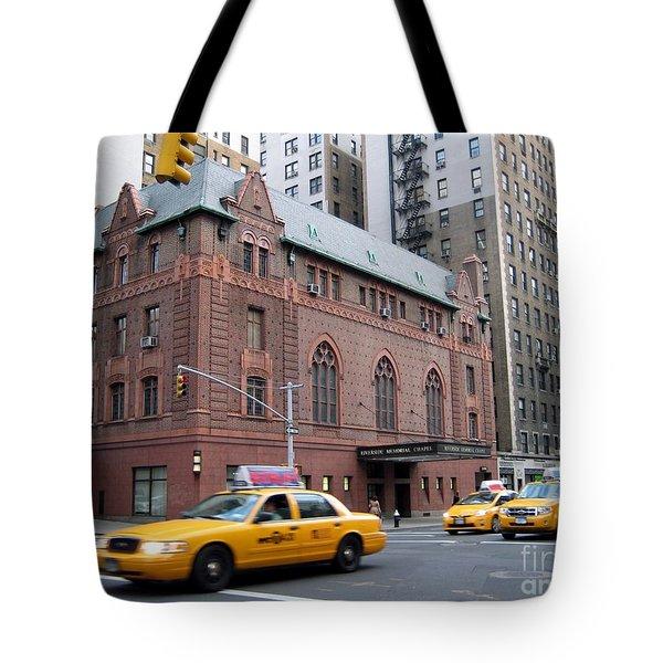 New York City Yellow Cab  - Amsterdam -  West Seventy Sixth Tote Bag