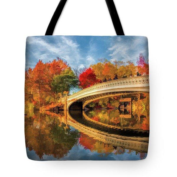 New York City Central Park Bow Bridge Tote Bag