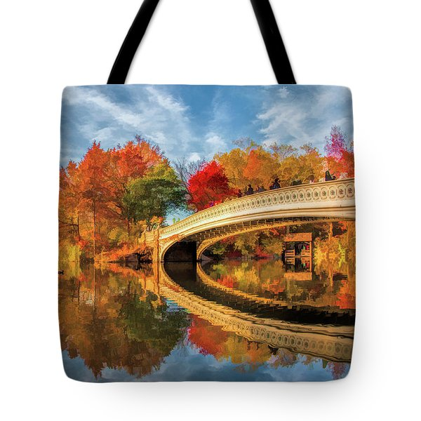 New York City Central Park Bow Bridge Tote Bag