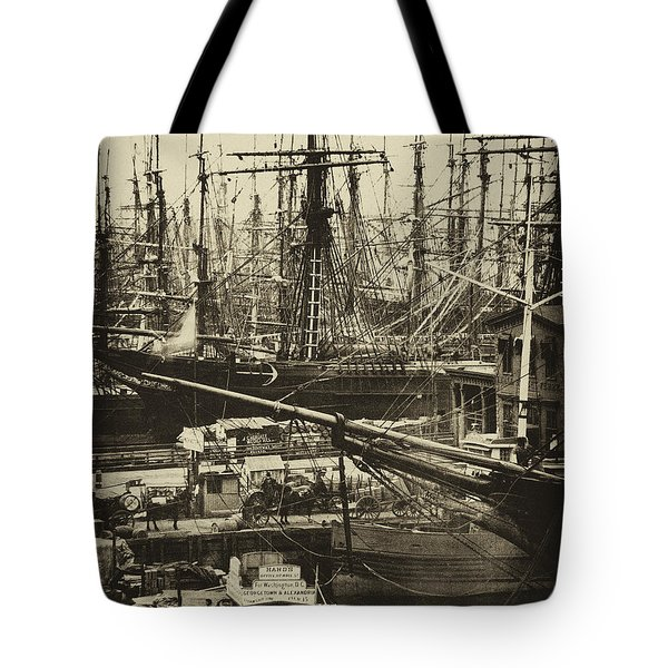 New York City Docks - 1800s Tote Bag by Paul W Faust -  Impressions of Light