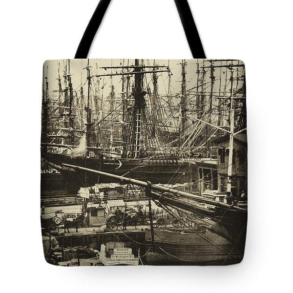 New York City Docks - 1800s Tote Bag