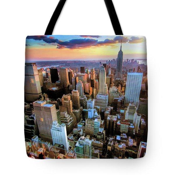 New York City Downtown Manhattan Tote Bag