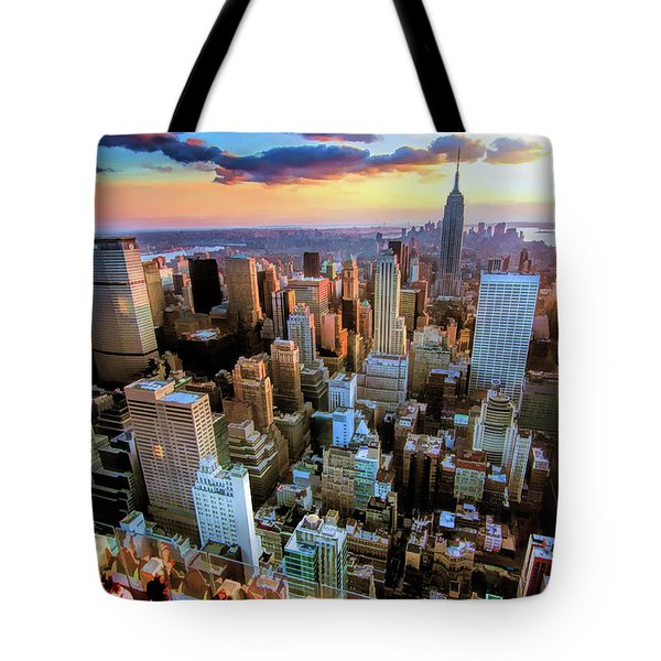 New York City Downtown Manhattan Tote Bag