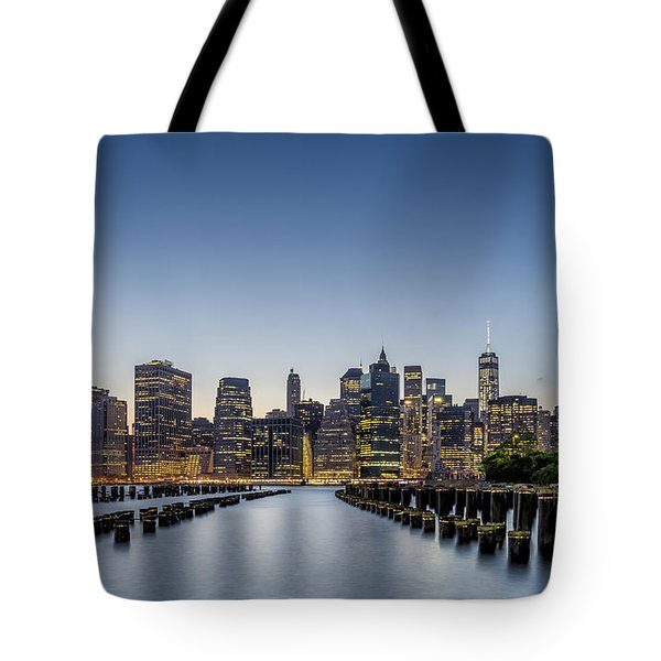 New York City Dusk Tote Bag by Rafael Quirindongo