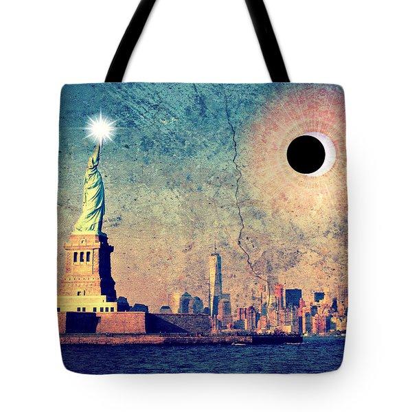 New York City Solar Eclipse 2017  Tote Bag