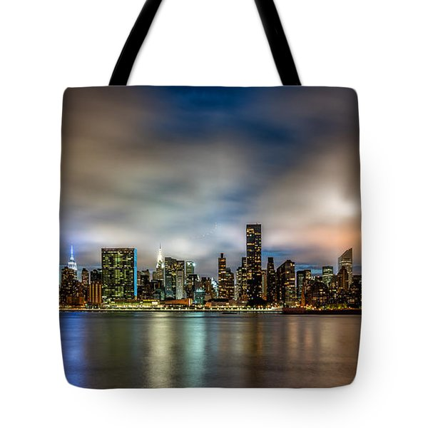 New York City Evening Skyline  Tote Bag