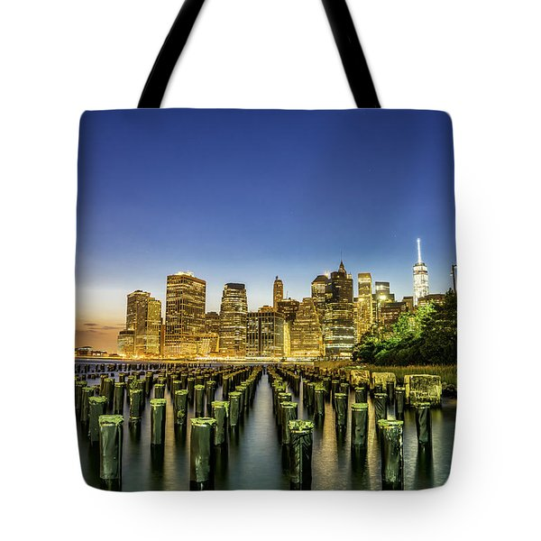 New York City From Brooklyn Tote Bag by Rafael Quirindongo