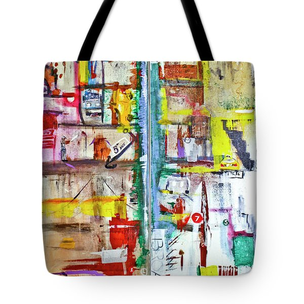 New York City Icons And Symbols Tote Bag