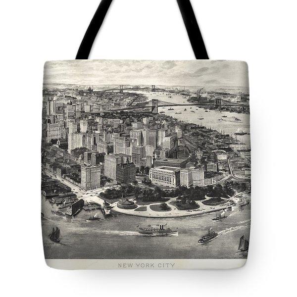 New York City Manhattan 1905 Tote Bag