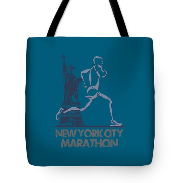 New York City Marathon3 Tote Bag by Joe Hamilton